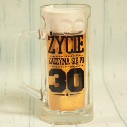 Kufel do piwa na 30 urodziny, życie zaczyn się po 30,