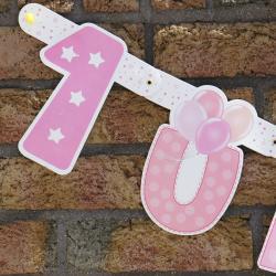 Baner 1 Urodzinki, dla dziewczynki
