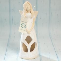 Anioł świecznik, podświetlana sukienka, rękodzieło