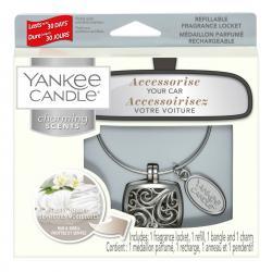Charming Scents, biżuteria Square i zapach do samochodu, zestaw samochodowy Yankee Candle z zapachem Fluffy Towels
