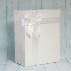 Pudełko prezentowe białe 32/25/13cm