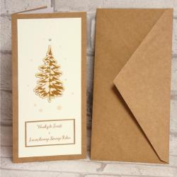 Kartka świąteczna Choinka, rękodzieło