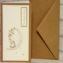 Kartka świąteczna z reniferami ręcznie robiona