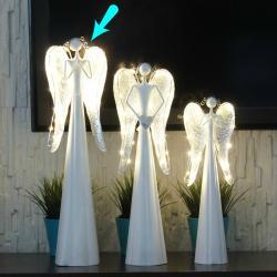 Metalowy anioł, świecące...