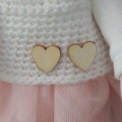 Lalka ręcznie wykonana, różowa