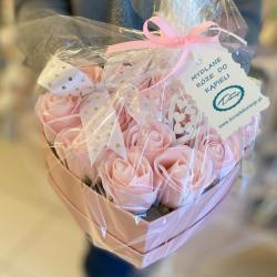 Flowerbox, mydlane róże do kąpieli