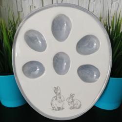 Talerz na jajka z zajączkami