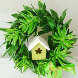 Wianek zielony z domkiem