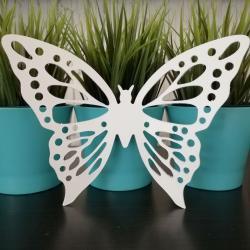 Motyl do zawieszenia, biały, 15 cm