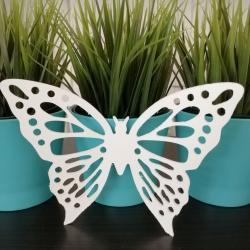 Motyl do zawieszenia, biały, 13 cm