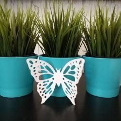 Motyl do zawieszenia, biały, 10 cm