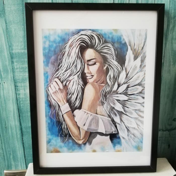 Anioł, plakat w ramie 32/42cm