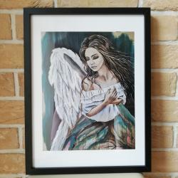 Anioł, reprodukcja obrazu 32/42cm