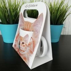 Kubek z kotem w ozdobnym kartoniku