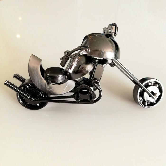 Motocykl metalowy miniaturka