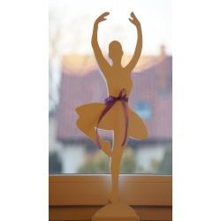 Baletnica drewniana 54cm, noga podwinięta