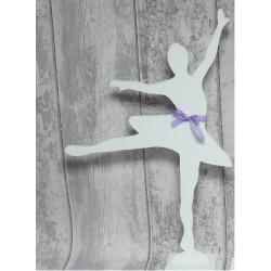 Baletnica drewniana 60cm, noga w bok