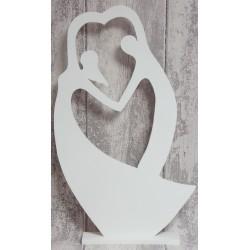 Zakochana, tańcząca  para, drewniana dekoracja 57 cm