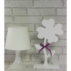 Koniczyna, drewniany kwiat 35 cm